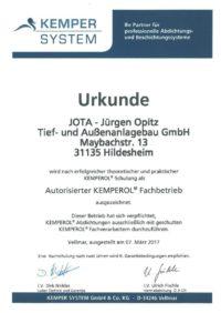 Kemperol Zertifikat